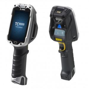 Zebra TC8000 Standard, 2D, MR, BT, Wi-Fi, disp., hot-swap, Android