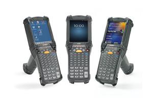 Zebra MC9200 Standard, 2D, SR, BT, WLAN, VT Emu., Gun, disp., WEC 7